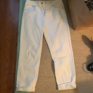 "Madewell white ""perfect summer jean"" size 28"